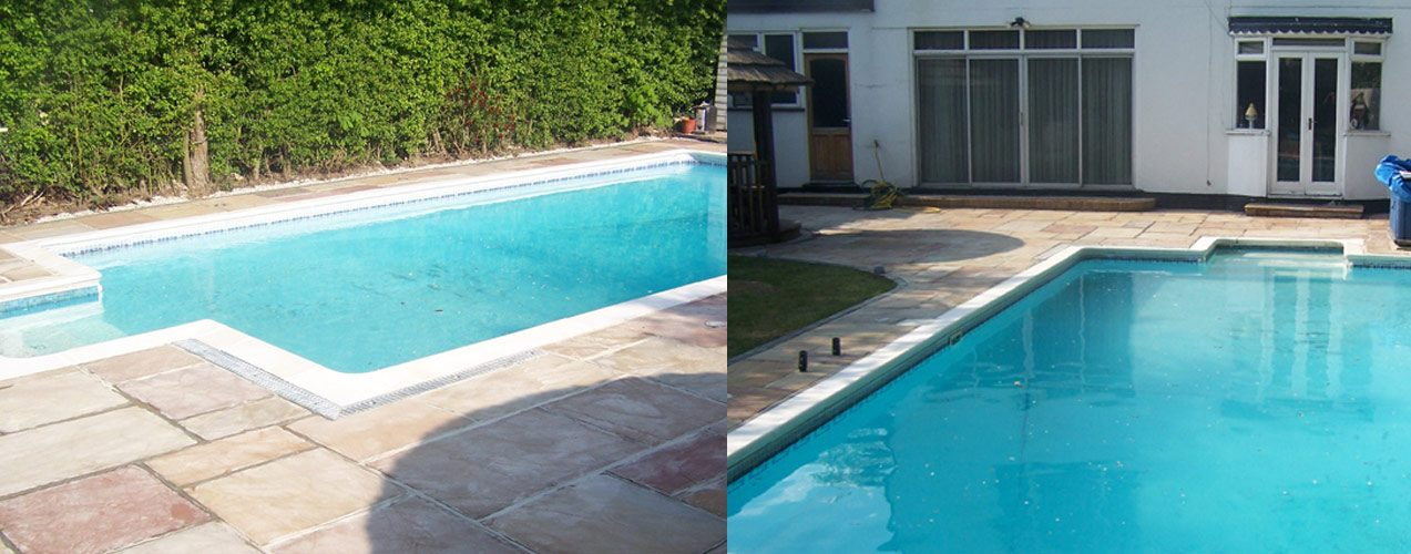 Uneven ground nelsons fencing and landscaping for Garden pool surrounds